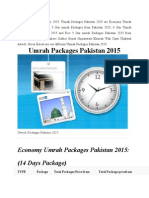 Umrah Packages Pakistan 2015
