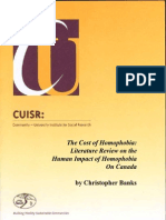 The Cost of Homophobia Literature Review of its Impact on Canada - BanksHumanCostFINAL.pdf