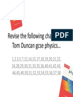 Revision Chapters in Tom Duncan