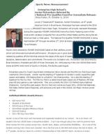 Hunter Richardson Press Release