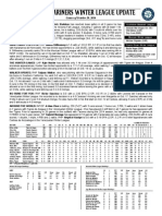 10.21.14 Mariners Winter League Report