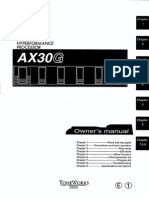 USA AX30G Owners Manual