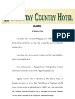 Hotel Practicum Report Tagaytay Country Hotel