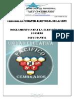 REGLAMENTO PARA LA ELECCIÓN DEL CONSEJO ESTUDIANTIL UEPC.pdf