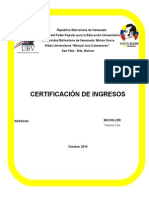 Certificación de Ingresos
