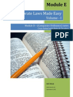 Corporate Laws Made Easy Volume 1