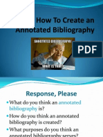 annotated bibliography power popint