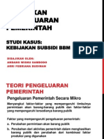 Presentasi Pengeluaran Pemerintah - Subsidi BBM