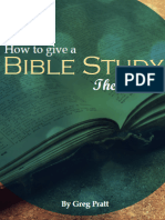 How To Give A Bible Study
