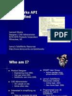 SolidWorks API Demystified-1