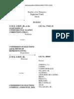G.R. Nos. 179431-32 Luis K Lokin Jr vs Commission of Election 06-22-2010 621 SCRA 385
