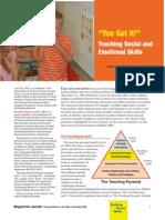 teaching social and emotional skills 2014