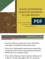 Seminar 18 Desember 2012 Kajian Determinan Kematian Maternal Balitbangkes