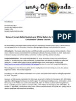 Status November 2014 Election Mailing