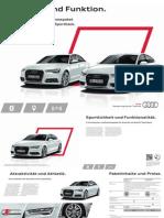 Audi A6 and A7 S line selection Brochure (DE)