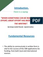 Introduction Basic Proposal Writing - Presentation1