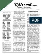 Newsletter Aug 09