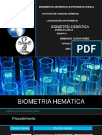 EXPOSICIÓN QUIMICA CLINICA BIOMETRIA HEMÁTICA.pptx