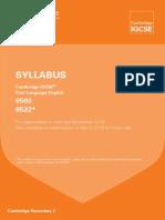 igcse english langage syllabus 2016