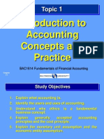 Introduction To Accounting Concepts and Practice