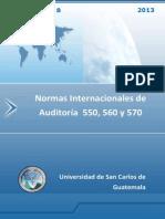 Normas Internacionales de Auditoría 550, 560, 570.pdf