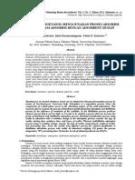 Pemurnian Bioetanol Menggunakan Proses Adsorbsi Dan Distilasi Adsorbsi Dengan Adsorbent Zeolit