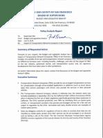 San Francisco TNC Report Supervisor Mar