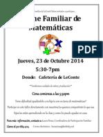 FamilyMathNight 10.23.14 SPAN