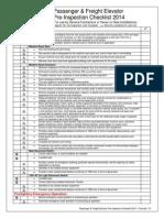 Passenger & Freight Elevator Pre-Inspection Checklist 2014 - Final