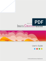 InsiteCreation 2010 User's Guide