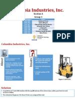 Columbia Industries Inc Case analysis