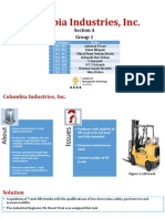 Columbia Industries Inc Case analysis