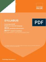 esl syllabus 2016
