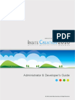 InsiteCreation 2010 Administrator &  Developer's Guide