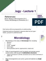 Yr. 1 Microbiology. LEC