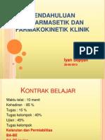 Pendahuluan Biofarmasetik Dan Farmakokinetik 2013