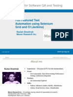 Full Featured Test Automation using Selenium Grid and CI (Jenkins)