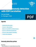 Statistical Anomaly Detection With ESM