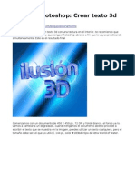 Tutorial Photoshop Texto 3d