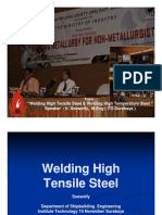 Welding High Tensile Steel