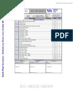Batch Plant Inventory 24-July-08
