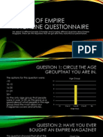 results of empire magazine questionnaire