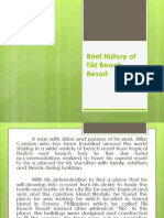 Brief History of Tiki Beach Resort