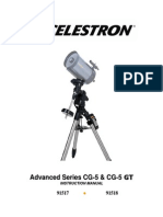 Celestron Advanced Series CG5-GT Manual