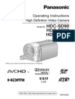 Panasonic HDC-SD90 User Manual (EN)