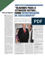 """""""Olhamos para a situação actual, como oportunidade de crescimento""""   Entrevista a Luís Gonzaga   Jornal Oje"""