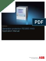 1mrk502033-Uus - En Application Manual Generator Protection Reg650 Ansi