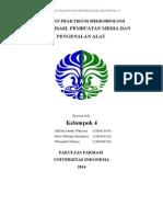 1. Laporan Praktikum Mikrobiologi 4F - Sterilisasi