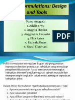 PPT Policy Formulations