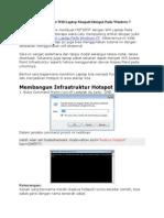 Cara Membuat Hostpot Windows 7